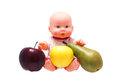 Baby toy with fruit. Royalty Free Stock Photo