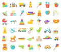 Baby toy isolated. Vector illustration. Set kids toys.