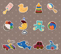 Baby toy stickers Stock Photography