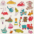 Baby Toys Doodles Royalty Free Stock Photos