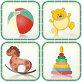 Baby toys icons Stock Photo