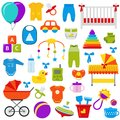 Baby toys set. Vector illustration.