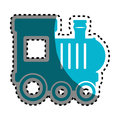 Baby train toy isolated icon
