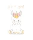 Baby unicorn girl Royalty Free Stock Photo