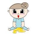 Baby urinates