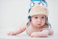 Baby in winter hat Royalty Free Stock Photo