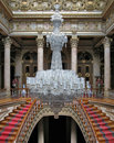 Baccarat chandelier in Dolmabahce Palace, Turkey Royalty Free Stock Photo