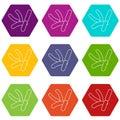 Bacilli icons set 9 vector Royalty Free Stock Photo