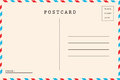 Back of airmail Royalty Free Stock Photo