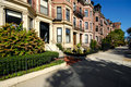 Back Bay residential district Stock Photography