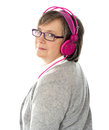 Back camera face lady musical to turning Стоковое Изображение RF