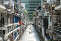 The back of crowded buildings in bangkok Royalty Free Stock Photo