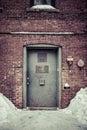 Back door alley way Royalty Free Stock Photo