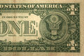 Back Half one dollar bill Royalty Free Stock Photography