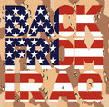 Back from Iraq american flag Stock Photography