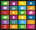 Back office metro style icons suitable for user interface Royalty Free Stock Photography