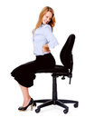 Back pain office chair Royalty Free Stock Photos