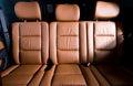 Back passenger seats in modern car Royalty Free Stock Photo