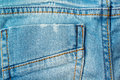 Back pocket of blue baby jeans Royalty Free Stock Photo