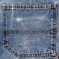 Back pocket of blue jeans Stock Images