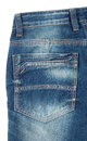 Back pocket of blue jeans Royalty Free Stock Photo