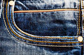 Back pocket blue jeans Stock Photo