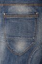 A back pocket is on jeans Royalty Free Stock Images