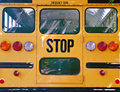 Back of School Bus Royalty Free Stock Photo