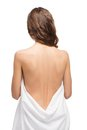 Back shot of slim young woman Royalty Free Stock Photo
