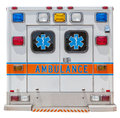 Back side of an ambulance car for emergency rescue. Royalty Free Stock Photo