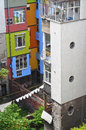 Back side apartment building Royalty Free Stock Photo