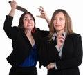 Back Stabbing Businesswomen Royalty Free Stock Photo