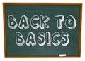 Back to Basics - Chalkboard Royalty Free Stock Photo