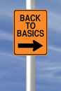 Back to basics a modified one way road sign indicating Royalty Free Stock Image