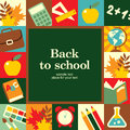 Back to school abstract concept background Stock Photo