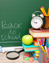 Back to school accessories Royalty Free Stock Images