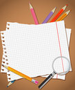 Back to school background or card vector illustration Stock Photo