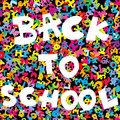 Back to school background with colored letters Royalty Free Stock Image