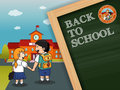 Back to school background design