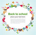 Back to school - background with education icons Stock Photography