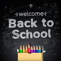 Back to school background eps illustration Stock Images