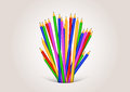 Back to school background formed with pencils clip art Royalty Free Stock Photos