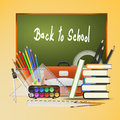 Back to school background illustration Royalty Free Stock Images