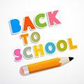 Back to school background with pencil colorful vector Stock Photos