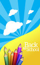 Back to school background pencils Stock Photo