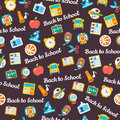 Back to school background seamless pattern Stock Photos