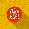 Back to school background vector eps illustration Royalty Free Stock Image