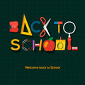 Back to school background vector eps illustration Royalty Free Stock Photo