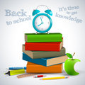 Back to school background vector illustration eps contains transparencies Stock Images