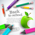 Back to school background vector illustration eps contains transparencies Stock Photo